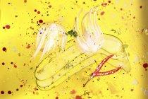 Fette di finocchio, zucchine e peperoncino che si trova nell'olio di oliva — Foto stock