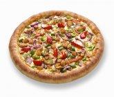 Teriyaki Hähnchen pizza — Stockfoto
