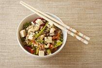 Riso asiatico con verdure — Foto stock