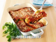 Stuffed cannelloni pasta — Stock Photo