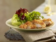 Turkey goujons with cornflake crust — Stock Photo