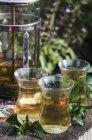 Peppermint tea in tea glasses — Stock Photo