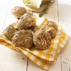 Mixed seed bread rolls — Stock Photo