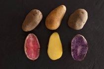 Various types of potatoes — Stock Photo