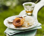 Grilled Peach with Honey — Stock Photo