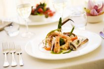 Starter of prawns, squid and octopus — Stock Photo