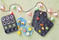 Cupcake Fee Lichter — Stockfoto