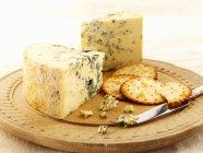 Stilton con cracker all'aglio — Foto stock