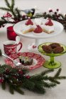 Assortment of Christmas sweets — Stock Photo