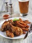 Ali di pollo Buffalo — Foto stock