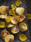 Fried Golden Beet Chips — Stock Photo