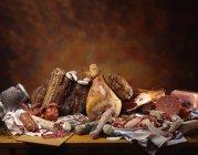 Nature morte aux jambons — Photo de stock
