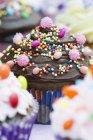 Cupcakes decorados para la fiesta - foto de stock