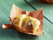 Muffin filled with anchovies — Stock Photo