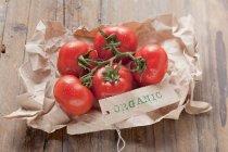 Tomates fraîches biologiques — Photo de stock