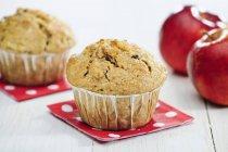 Focaccine di crusca con apple — Foto stock