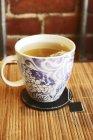 Чашка зеленого чаю — стокове фото