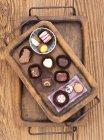 Various chocolate pralines — Stock Photo