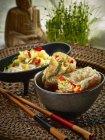 Rouleaux de printemps végétariens — Photo de stock