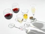 Verschiedene Weine im Glas — Stockfoto