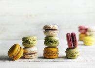 Biscotti del maccherone colorata — Foto stock