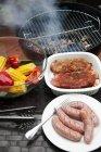 Bistecche di maiale marinato — Foto stock