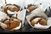 Vaniglia e mirtillo muffin — Foto stock