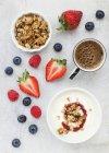 Joghurt Müsli und frischen Beeren — Stockfoto