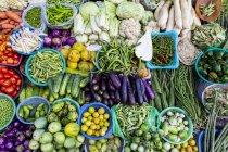 Ein Gemüse Stand auf einem Wochenmarkt — Stockfoto