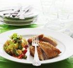 Poitrine de poulet croustillant — Photo de stock