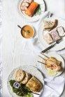 Выбор блюд из лосося — стоковое фото