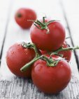 Tomates rouges sur vigne — Photo de stock