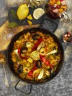 Paella rice dish — Stock Photo