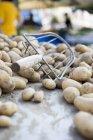 Patatas crudas frescas - foto de stock