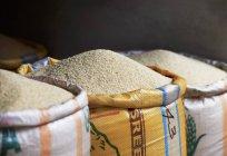 Три мішки з рисом — стокове фото