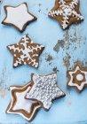 Пряник звезды с сахаром — стоковое фото