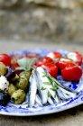 Piatto antipasti con acciughe marinate — Foto stock