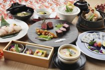 Traditional Japanese dishes — Stock Photo