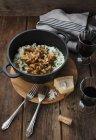 Risotto ai funghi riso — Foto stock