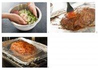 Passos para fazer rolo de carne — Fotografia de Stock