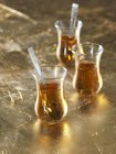 Glasses of Turkish tea — Stock Photo