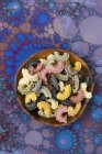 Raw colourful pasta — Stock Photo