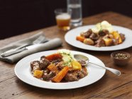 Lamb stew with potatoes — Stock Photo