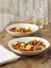 Meeresfrüchte-Paella-Reis-Gericht — Stockfoto