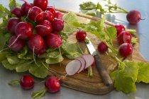 Ravanelli freschi con le fette — Foto stock