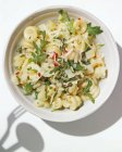 Fusilli pasta with potatoes and arugula — Stock Photo