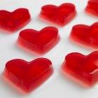 Червоний малини желе серця — стокове фото