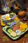 Святковий оформлені Хеллоуїн печиво — стокове фото