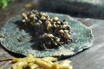 Кесадилья с кукурузной тортильи — стоковое фото