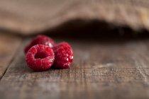 Свіжою малиною заморожені — стокове фото